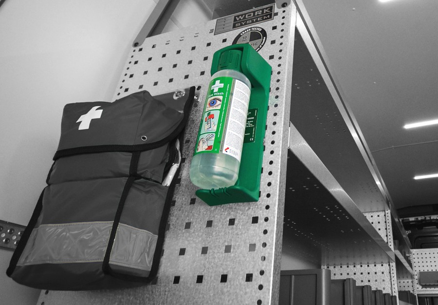 Security products such as anti-theft devices, alarms and fire extinguishers for your transport vehicle