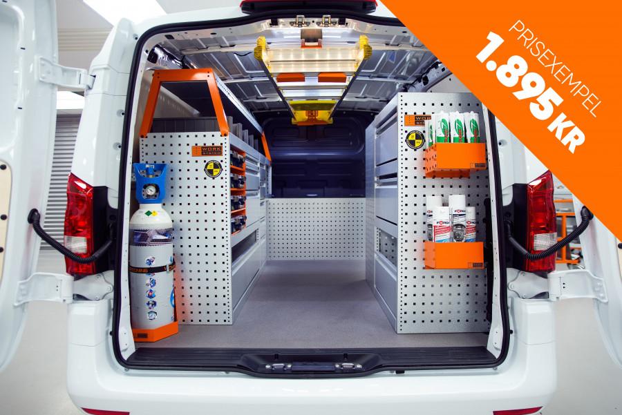 Van with van racking equipment from Work System.