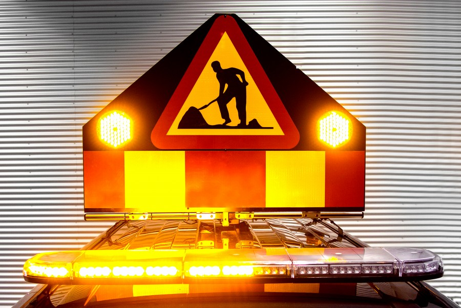 Flashing or warning lights for increased visibility