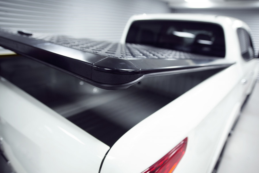 Aluminium tonneau cover which withstands all weather and protects against theft.