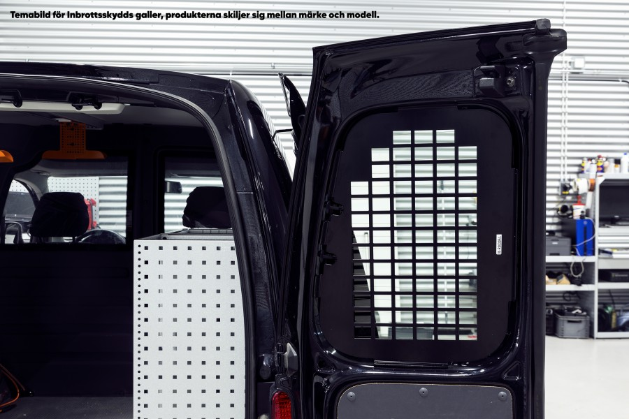 Anti-Theft Grid for the Caddy 2016. For the rear double doors without wipers.