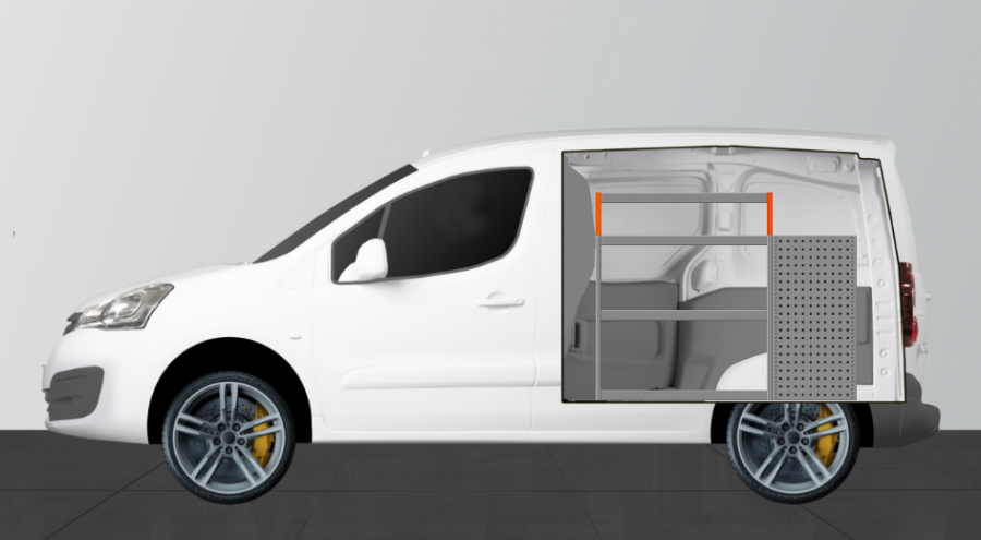 H-LB6 van racking for the Berlingo and Partner L1 | Work System