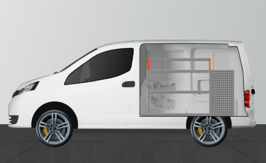 H-LB6 van racking for the NV200 | Work System