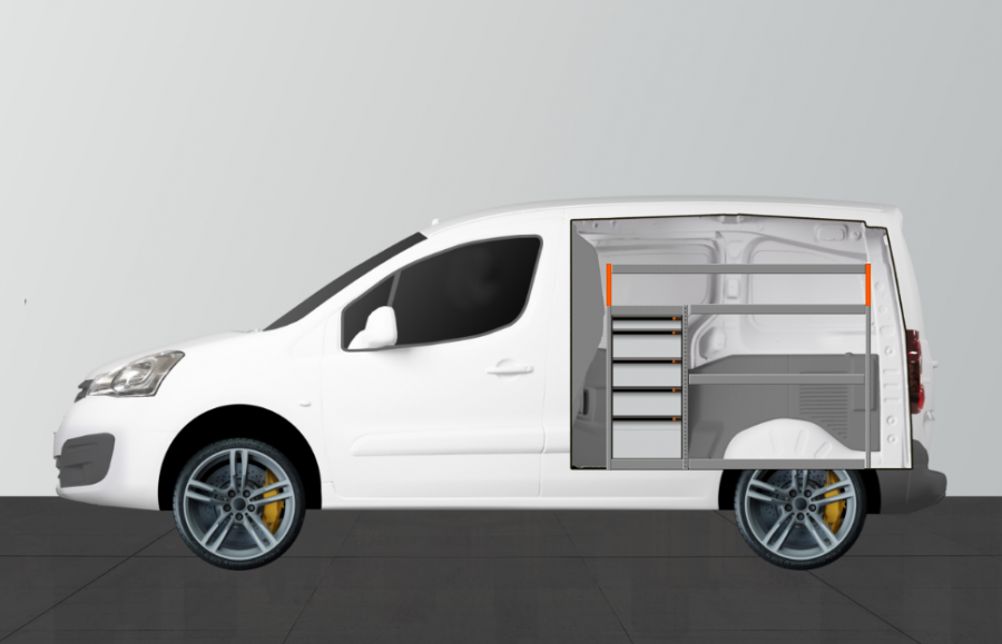 H-Pro van racking for the Berlingo and Partner L1 | Work System