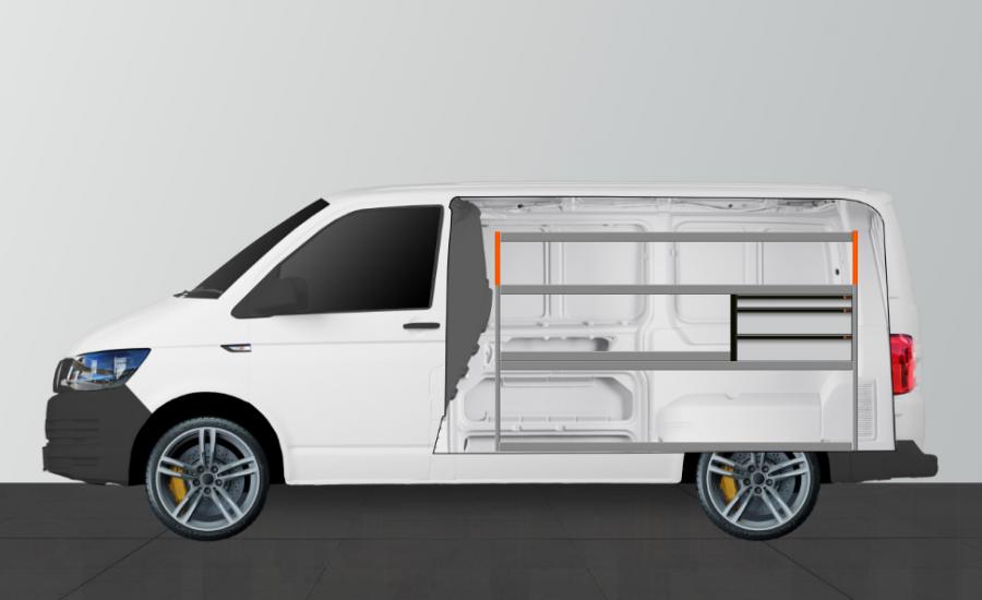 H-LS3 van racking for the VW TRANSPORTER (SWB) | Work System