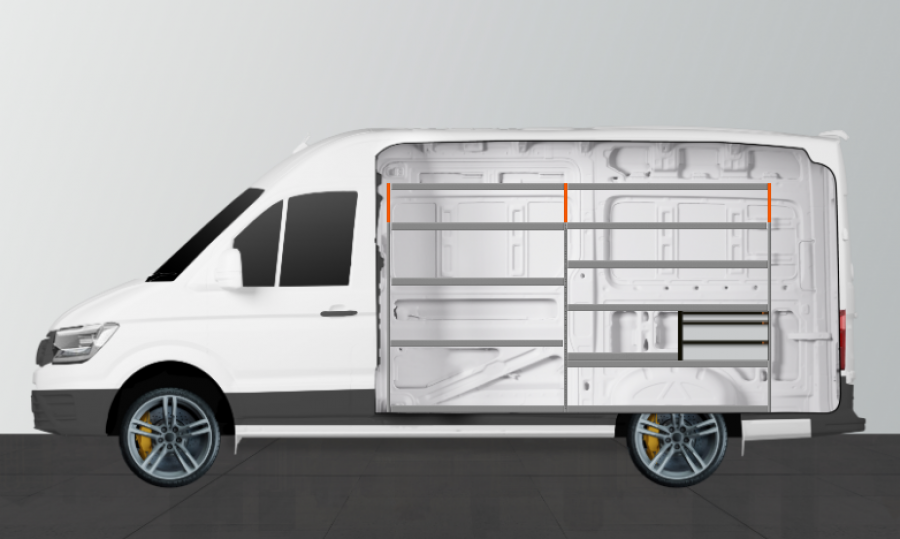 H-LS3 van racking for the SPRINTER STANDARD | Work System