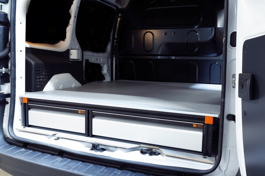 Underfloor (H:202mm) with 3 drawers for the Citan and Kangoo Long and Standard