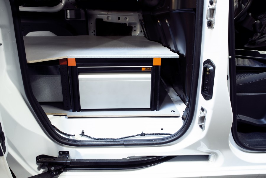 Underfloor (H:272mm) With 3 Drawers for the Citan Long and Kangoo Standard