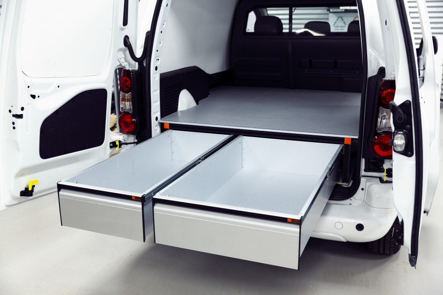 Underfloor (H:272mm) With 3-drawers for the Citroën Berlingo & Peugeot Partner L1